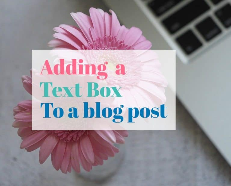 How to create a text-box in a blog post